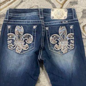💕Miss me jeans midsize boot cut sz 26 x 31 euc 💕